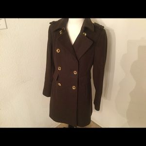 Michael Kors  coat 61% wool polyester Gold buttons